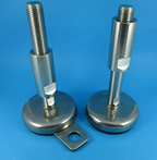 Feet with stainless steel stem & antibacterial bases