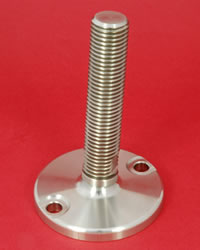 Adjustable Levelling feet - All stainless with 30mm diam. stem